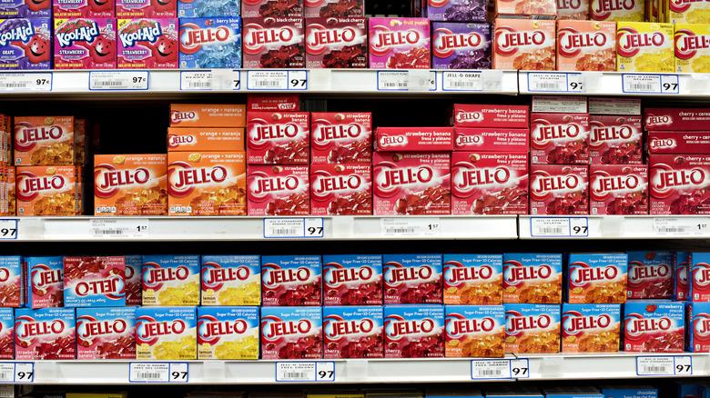 Jell-O desserts on store shelves