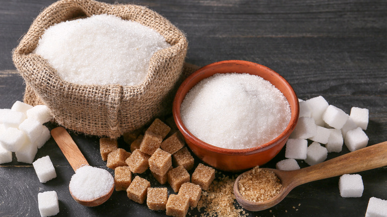 Sugar in many forms