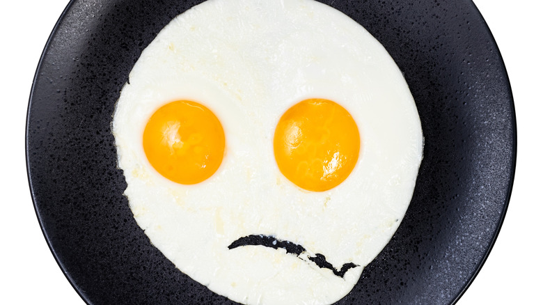 Unhappy fried eggs