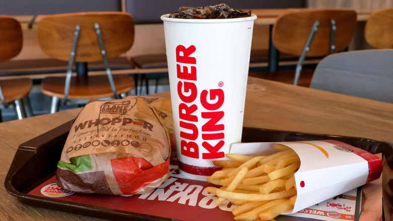 Burger King food and drink