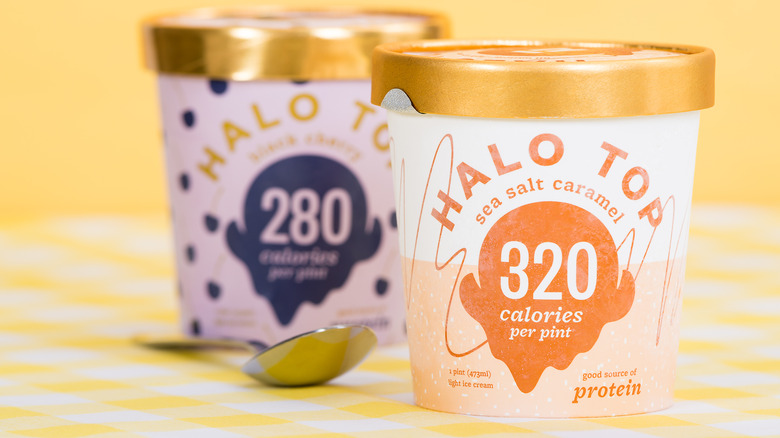 Ice cream tubs from Halo Top