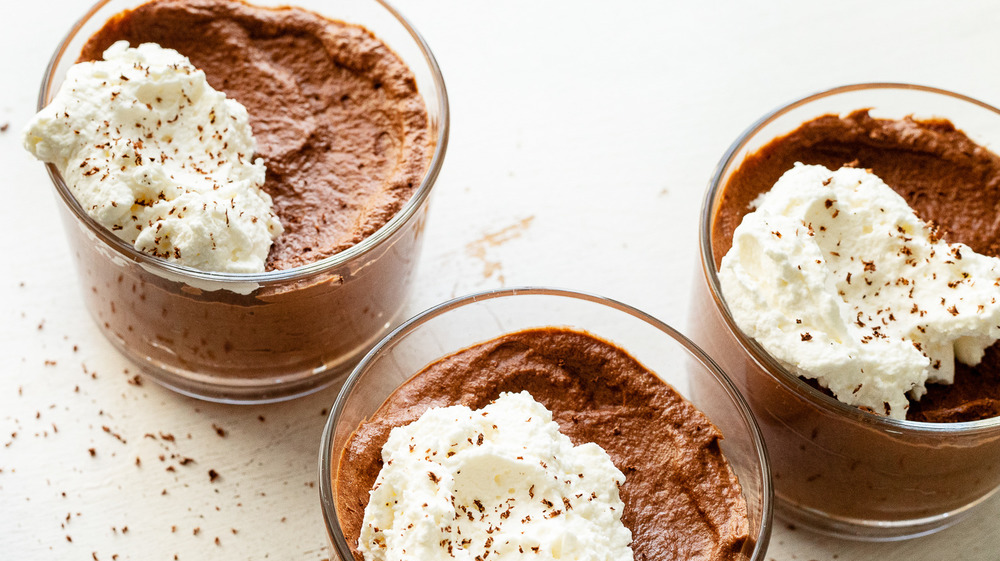 3-ingredient chocolate mousse recipe served