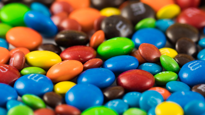 M&Ms in many colors