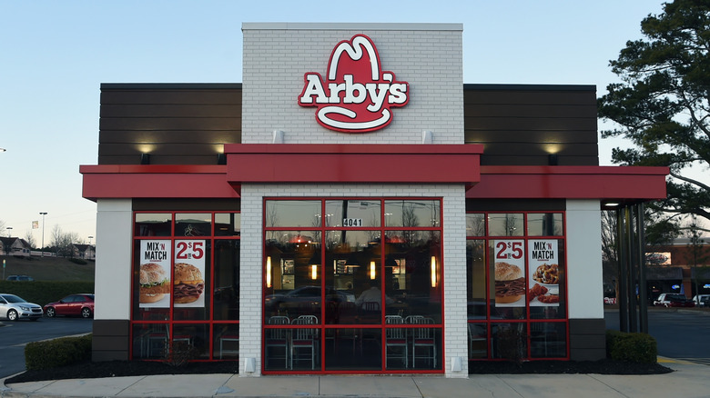 Exterior of an Arby's restaurant