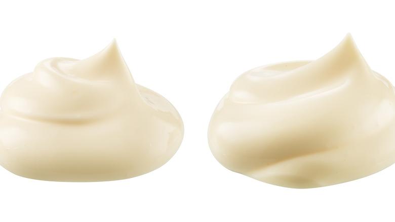 Swirls of mayonnaise