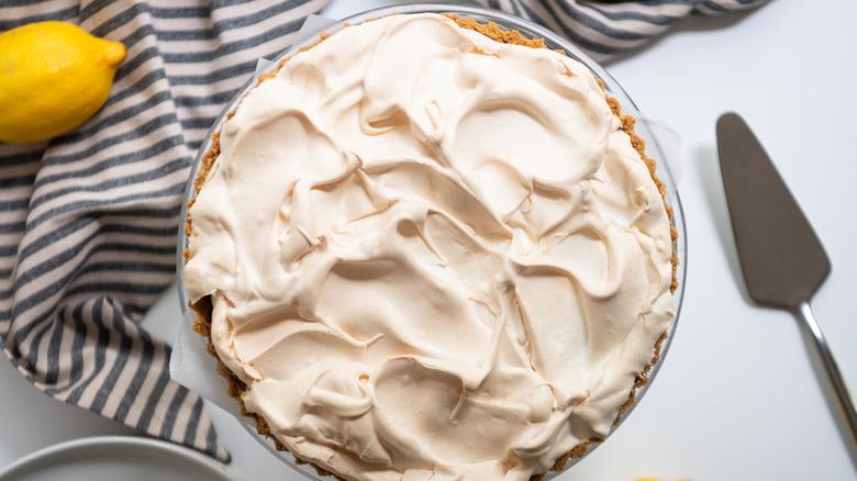lemon pie in a dish