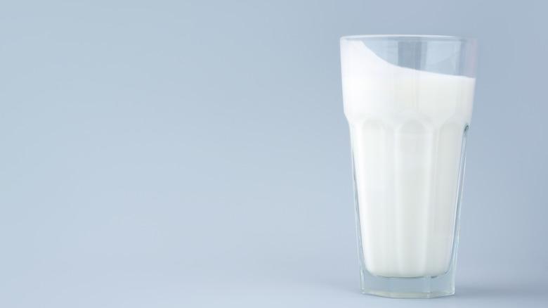 Plain buttermilk in a glass