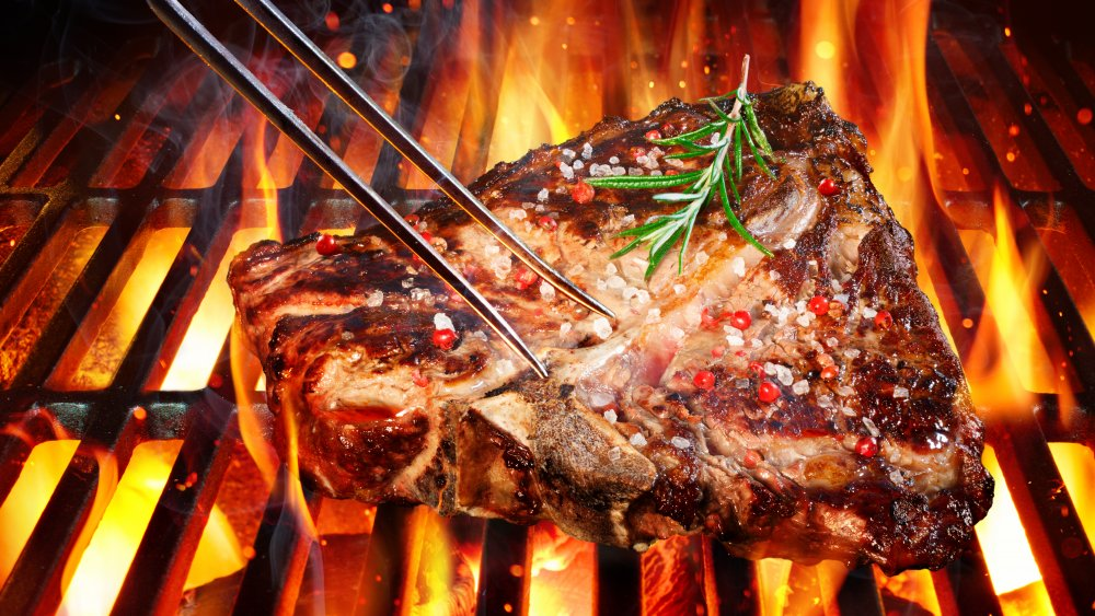 Steak from steakhouse