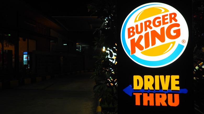 Burger King drive-thru sign