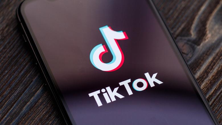 TikTok app on phone screen