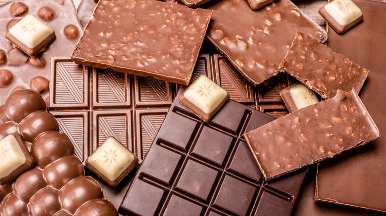 Types of chocolate bars