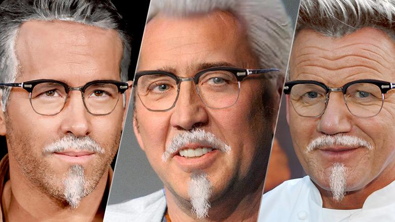 Ryan Reynolds, Nic Cage, Gordon Ramsay as Colonel Sanders