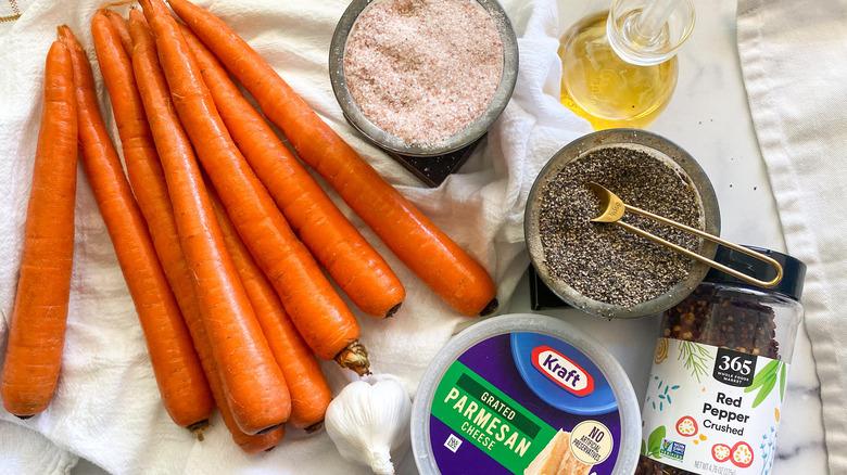 Air Fryer Carrot Fries Recipe ingredients