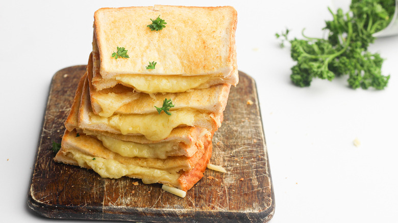 grilled cheese sandwich stack