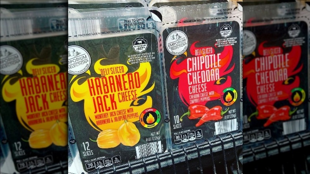 New packages of spicy Aldi cheese