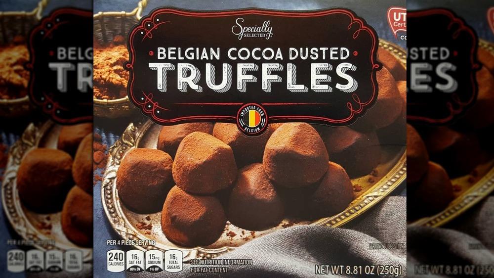 Belgian cocoa dusted truffles