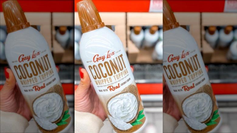 Aldi's Gay Lea coconut whipped cream