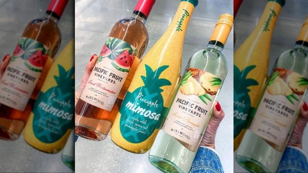 Selection of Aldi wines