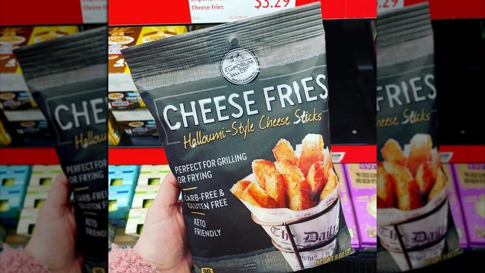 Keto-friendly cheese fries bag