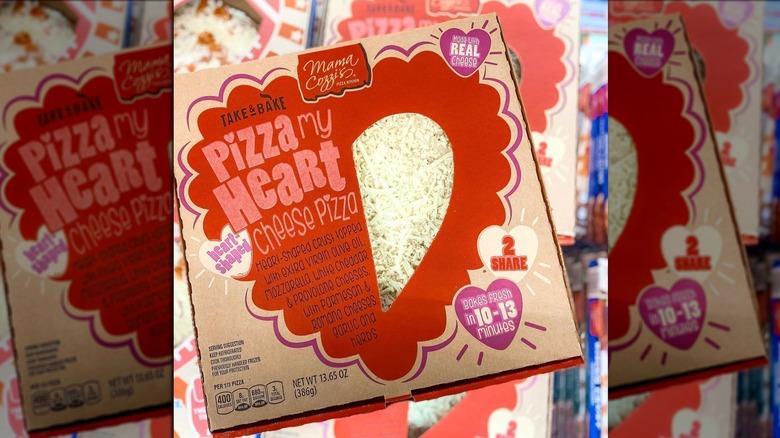 Aldi's Mama Cozzi's heart-shaped pizza