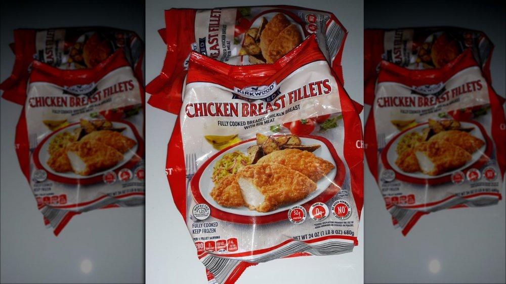 Aldi's Kirkwood breaded chicken breast fillets aka Red Bag Chicken