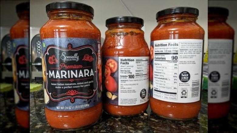 Aldi's new pasta sauce in jars