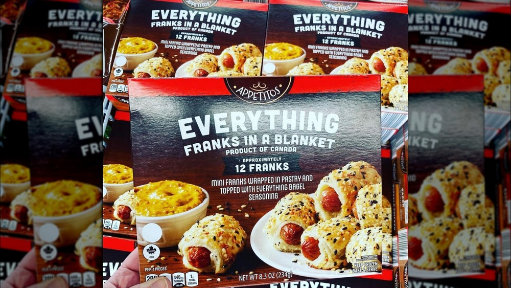 Box of Aldi's Everything Franks in a Blanket
