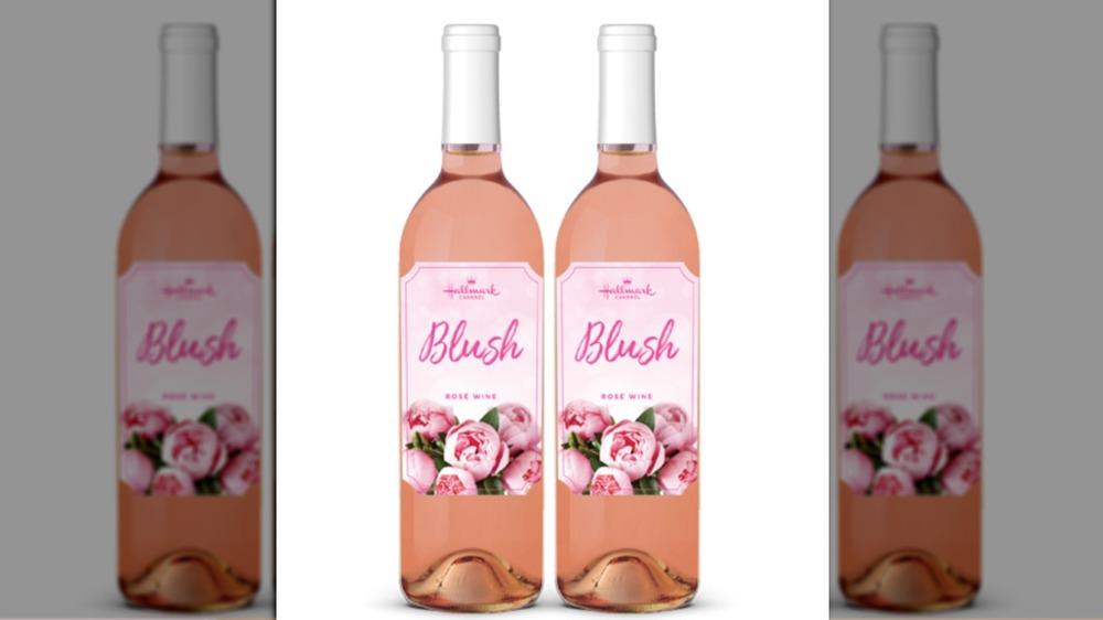 Bottle of Hallmark rosé