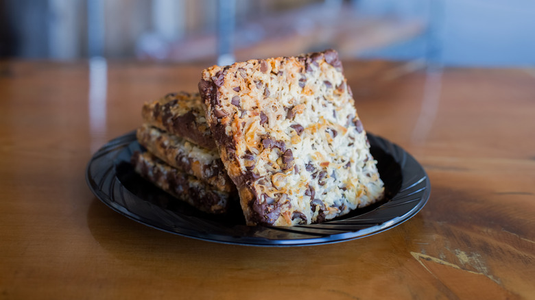 7-layer bars on a plate