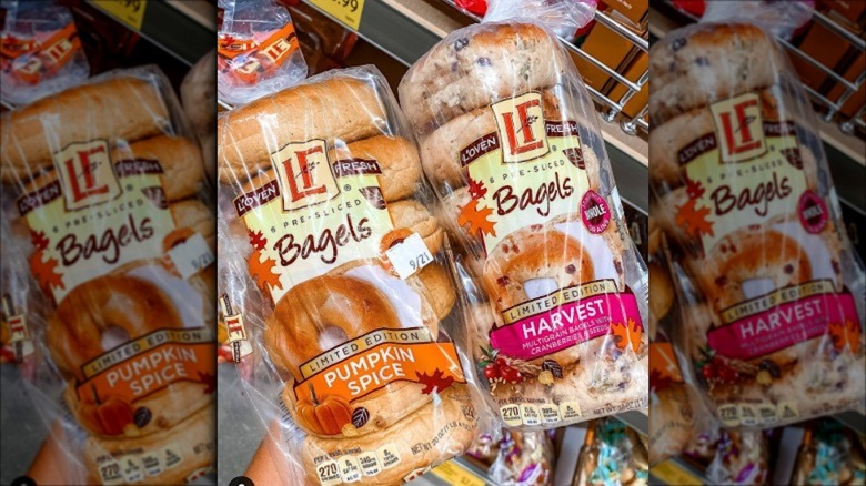 Aldi's new bagels in clear bags