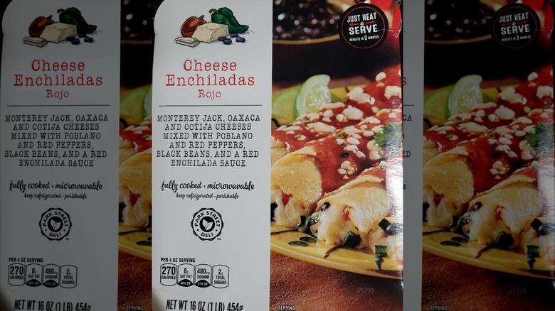 A box of Aldi's new enchiladas