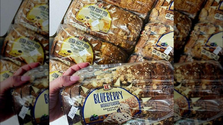 A stack of new Aldi bread