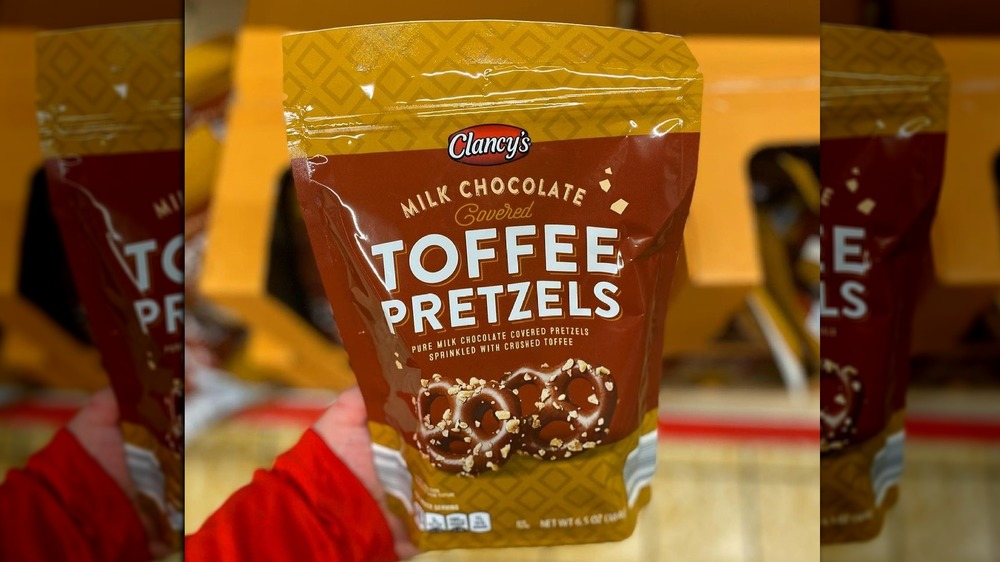 Clancy's milk chocolate-covered toffee pretzels