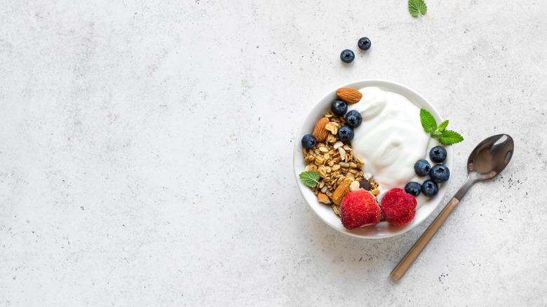 Greek yogurt with toppings