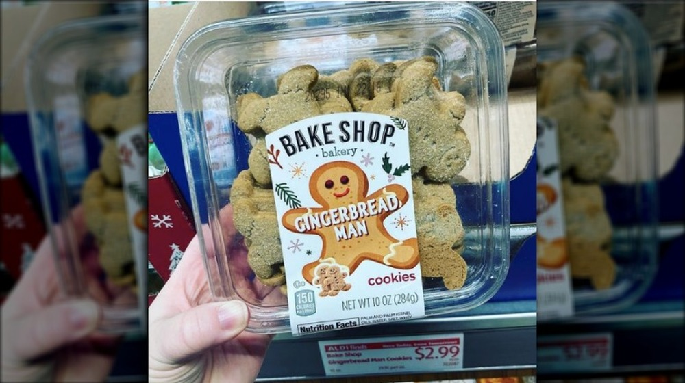gingerbread man cookies from Aldi