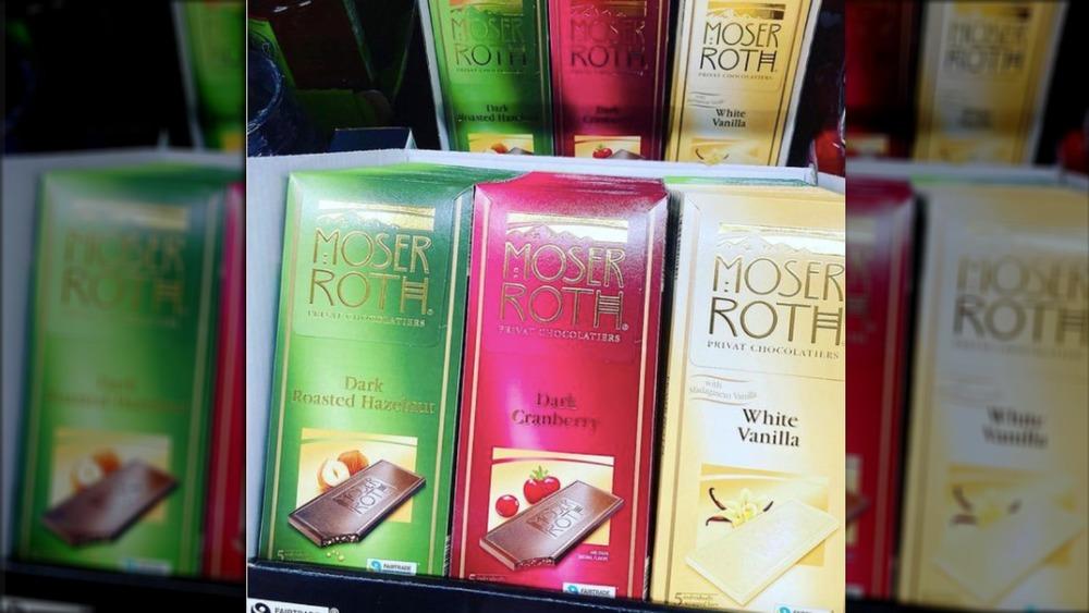 Aldi Moser Roth chocolate flavors