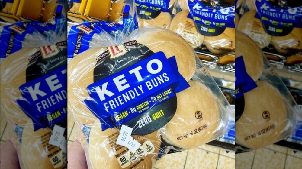 Package of Aldi's Keto friendly buns