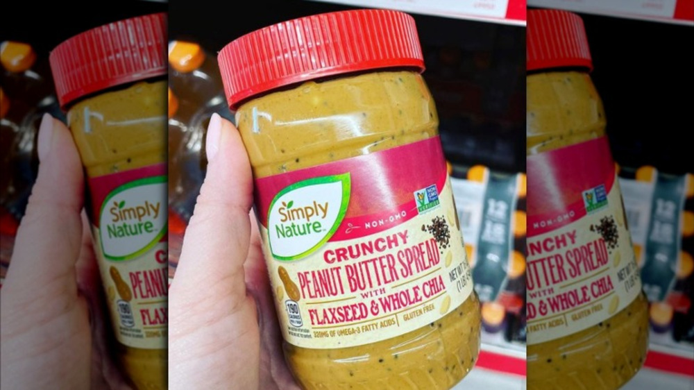 Aldi's Simply Nature crunchy peanut butter