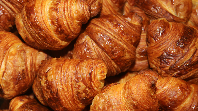 Bunch of croissants