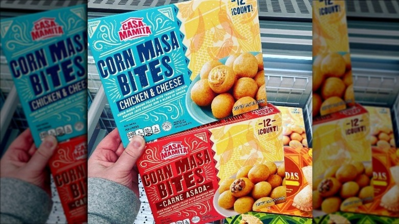New Aldi corn masa bites stacked on each other