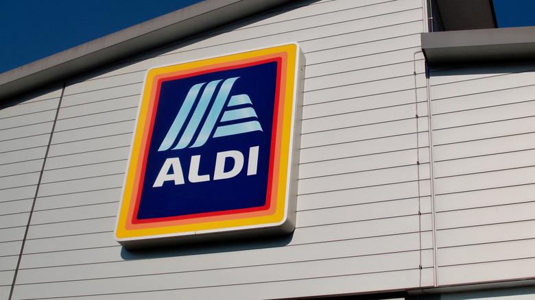 Aldi sign on building