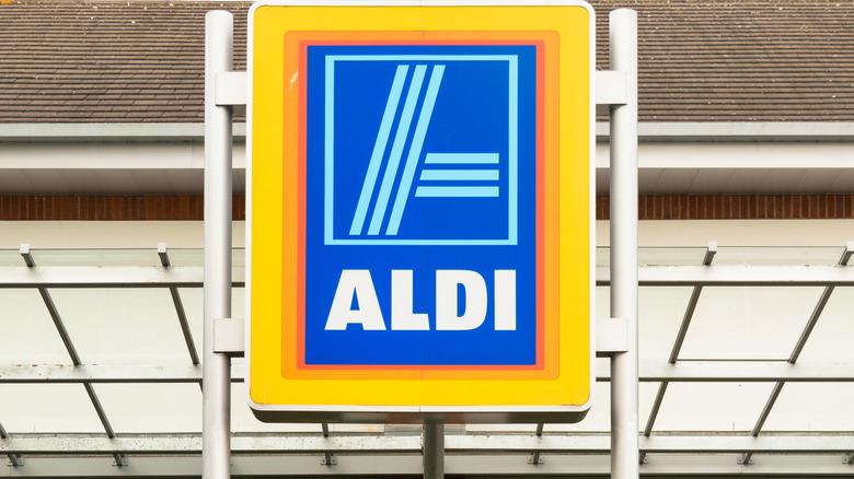 Outside an Aldi U.K. store