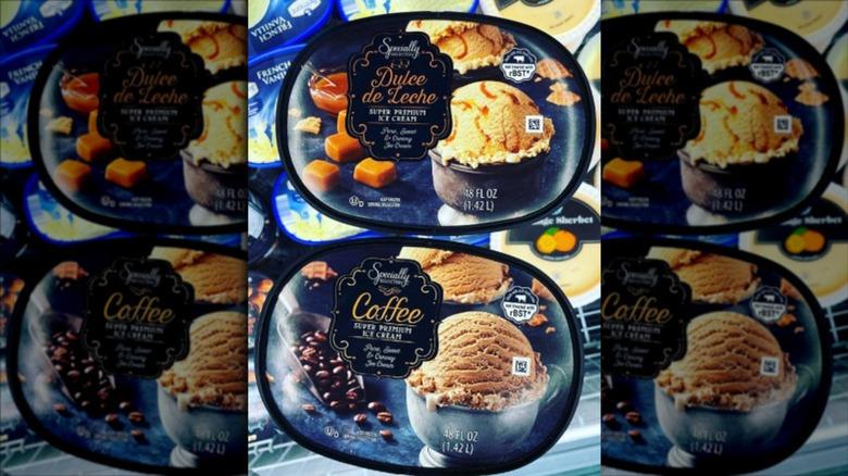 Aldi Specially Selected coffee and dulce de leche ice cream