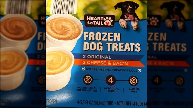 Aldi frozen dog treat package