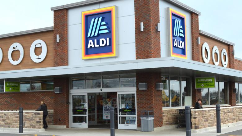 Aldi store with Aldi signage