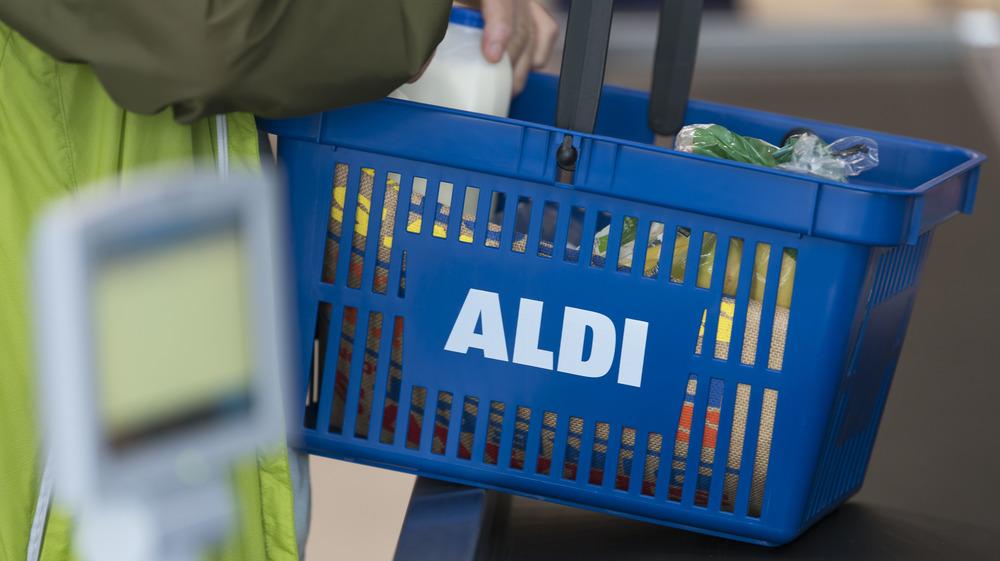 Aldi basket of groceries