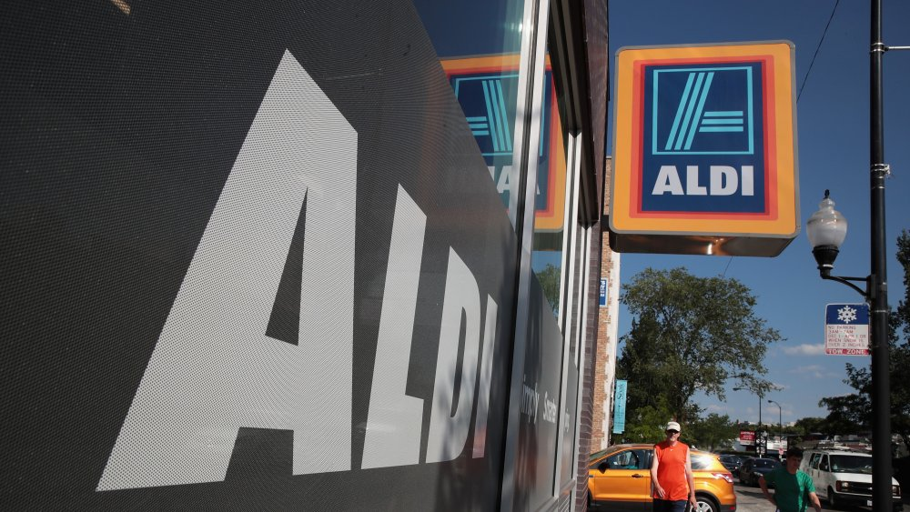 Aldi sign and store front