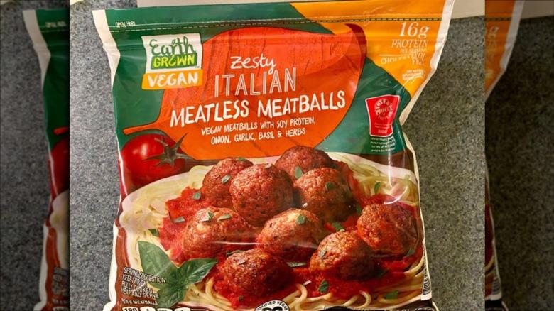 Package of Aldi's Zesty Italian Meatless Meatballs
