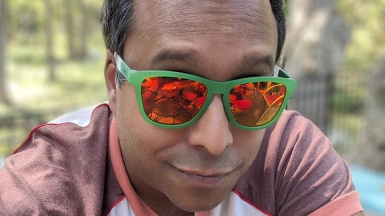 Ali Khan sporting sunglasses