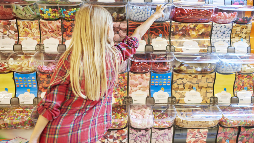 Girl picking out candy
